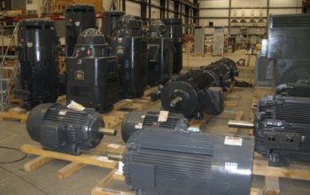 Large Motors in Warehouse