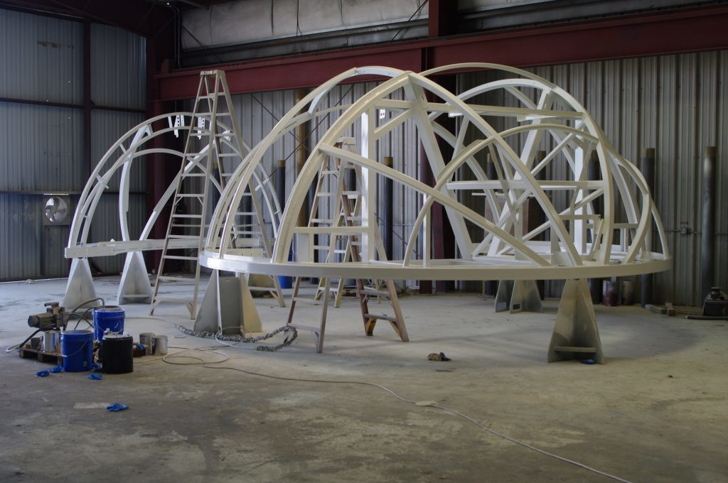 Ferris Wheel Cabin Construction Paint