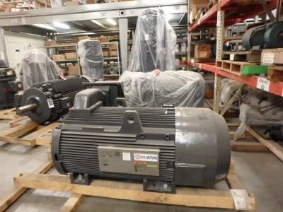 Horizontal Motors in Warehouse