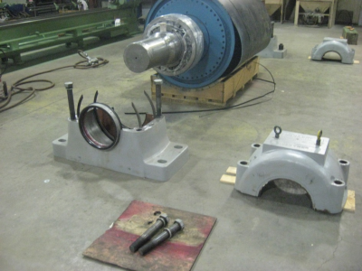 Conveyor pulley Disassembly