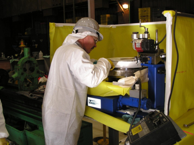 Nuclear on site machining